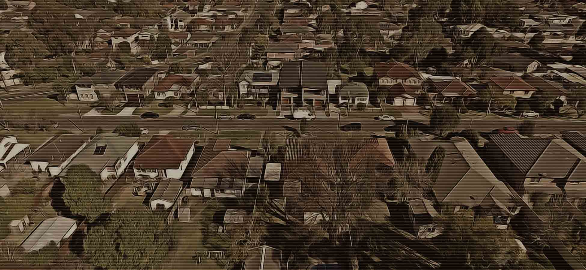 aerial suburb shot sydney real estate video
