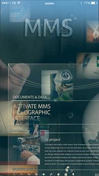 frame grab from multimedia select hologram promo